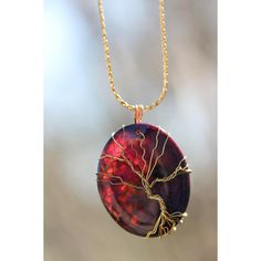 Tree of life jewelry, Stunning Tree of life, Tree of Life Agate, Jewelry, Dark purple Agate, Tree of Life pendant, FREE Domestic Shipping ($45) found on Polyvore