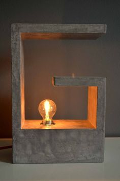 Concrete lamp by cementology on Etsy, €175.00 #ConcreteLamp
