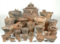 Jomon Potteries found in Yamanashi Prefecture in Japan are definitely one of the most Important Cultural Properties. 3000 BC.