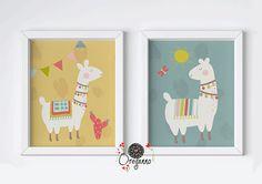 Llama-Llama wall art-Alpaca print-Llama print-Alpaca set-Nursery wall art-Llama nursery-Llama set-Ll Llama Print, Llama Llama, Llama Decor, Llama Arts, Baby Furniture, Nursery Wall Art, Pastel, Classroom, Frame