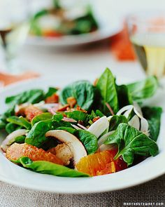 Spinach Salad with Fennel and Blood Oranges - Whole Living Eat Well