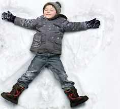 Caucasian boy making snow angel by Gable Denims - Photo 91056343 / Snow Day Outfit, Snow Pictures, Family Pictures, Family Getaways, How To Make Snow, Kid Poses, Snow Angels, Winter Kids, Winter Holidays