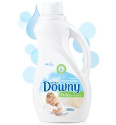 Experience all the softness of Downy - free from dyes, perfumes, and worries.