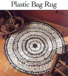 Plastic Bag Rug, versatile crochet pattern in Crafts, Needlecrafts & Yarn, Crocheting & Knitting Reuse Plastic Bags, Plastic Bag Crafts, Plastic Bag Crochet, Plastic Shopping Bags, Grocery Bags, Plastic Recycling, Recycling Ideas, Repurposing, Crochet Crafts