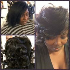 """Natural Press w/ Fresh Black Wake Up Call...styled in """"DeepThroat Feathers"""""""