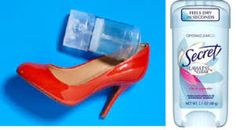 The next time you think you'll be getting blisters from a new pair of shoes, try rubbing gel deodorant on the areas where you think blisters are most likely to occur. The gel deodorant will serve as a lubricant and will prevent blisters! Prevent Blisters, Deodorant, Keep Shoes, Your Shoes, Toe Blister, How To Make Shoes, Clothing Hacks, Fashion Plates, Home
