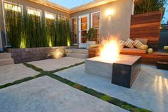 Modern Patio by Falling Waters Landscape