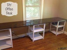 Full tutorial to build a DIY Office Desk