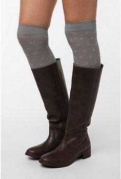 aa4e5a5ce7a Polka Dot Knee-High Socks and riding boots Country Fashion