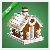 LEGO Christmas Gingerbread House by Chris McVeigh
