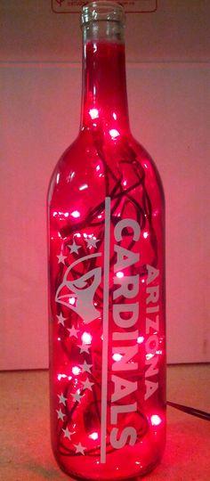 Arizona Cardinal Bottle Light-Vertical by FireWaterBottleLight