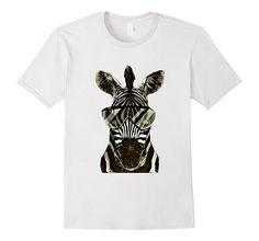 Men's Animal Graphic T-Shirt Jungle Safari Savanna Small White