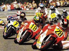 Tadahiko Taira,Verginio Ferrali,Barry Sheene,Hervé Moineau,Reinhold Roth,Weine Gardner  Spafrancorchamps Belgian 198(Nori)