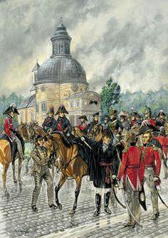 Wellington's staff, south of Brussels, June 1815.