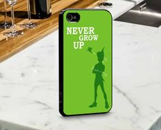 Peter Pan Never Grow Up for iPhone and Samsung Case by mulailagi
