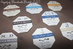 Beach Badge Place Cards Or Escort Cards - Beach Weddings, Destination Weddings…