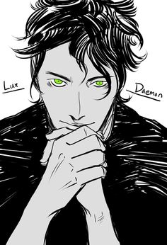 Daemon from the Lux series! (written by @JLArmentrout )  I devoured Obsidian, Onyx and Opal and am now twitchy waiting to read Origin Jennifer Armentrout is such a prolific writer I can't believe how many books she writes, and they're all awesome. Check them out!