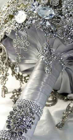 diamond bridal bouquet.... #weddings #wedding ideas #bridal bouquets