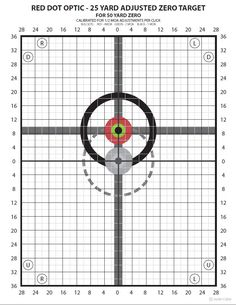 Zero Targets Optimized for Red Dot Style Optics (Aimpoint, EOTech, etc...)…
