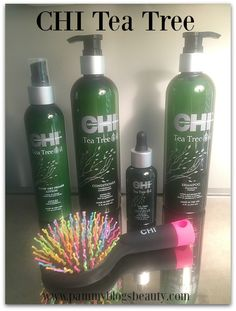 I love this line of hair products for Summer. So refreshing!!! #CHITeaTree #haircare