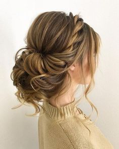 100 Gorgeous Wedding Updo Hairstyles That Will Wow Your Big Day - Selecting your. - - 100 Gorgeous Wedding Updo Hairstyles That Will Wow Your Big Day - Selecting your bridal hair style is an important part of your wedding planning,Gorge. Updos For Medium Length Hair, Medium Hair Styles, Short Hair Styles, Hair Styles For Wedding, Updo Styles, Hair Styles For Formal, Hair Styles For Quinceanera, Bridesmaid Hair Medium Length Half Up, Bridal Hairstyles With Braids
