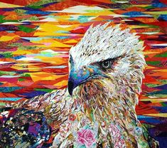 """Stare"" by Danny Amazonas; 57 x 52, Formosan  Eagle"