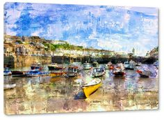 Seagull Studio Exclusive! Porthleven Harbour - Digital Print on Canvas - £22.99