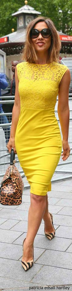 Yellow is such a happy color for summer ~ pretty lace bodice