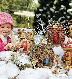 Fairy Village Houses and Set of 5 Fairies Special