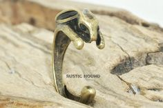 Rabbit Ring,  Bunny Ring, Bronze  Bunny Ring, Animal Wrap Ring
