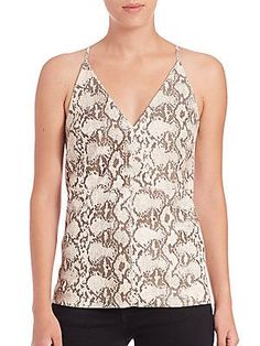 Bailey 44 Python-Embossed Leather Tank - Color - Size M