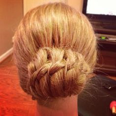 homecoming braided updo
