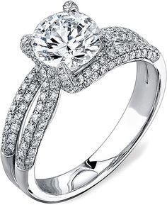 Simon G Split Shank Pave Engagement Ring SG MR1490