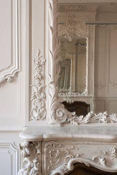 Salon de l'hôtels de Lamolère - Bordeaux (LOUIS XVI - décor végétal)
