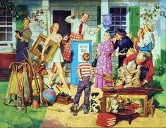 Auction Scene-Harold Anderson