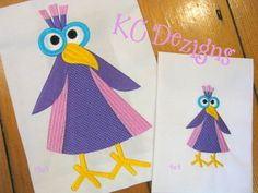 Googly Eyed Birds 03 Embroidery