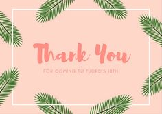 Use this customizable Pink Tropical Thank You Postcard template and find more professional designs from Canva. Thank You Postcards, Postcard Template, Tropical, Graphic Design, Templates, Canvas, Pink, Tela, Stencils