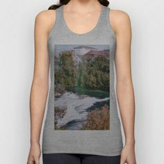 City by the River Unisex Tank Top by Anja Hebrank - $22.00  #rheinfall #germany #deutschland #autumn #landscape #nature #river #city #colours #colour #vintage #streetphotography #canon #present #decoration #interior #travelling #travelphotography #design #individual #society6 #print #art #artprint #interior #decoration #design #photography #fashion #clothes #clothing #tshirt #shirt #top #tanktop