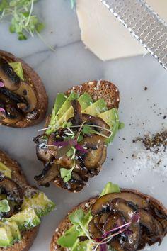 Avocado Mushroom Toast  | What's Gaby Cooking