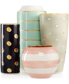 kate spade new york Sunset Street Vase Collection - Macy's pink & white one for the desk