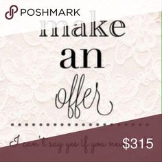Love the item, but not the price? Make an offer! Like the item, but not the price? Make me an offer! Please keep the offers realistic and fair to both parties keeping in mind Poshmark takes 20% of what a seller makes at least. Other