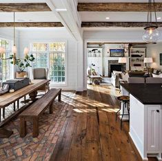 This rustic country kitchen is goals for sure! 🙌 Would you love a kitchen lik… - country kitchen farmhouse House Design, House, Home, Home Remodeling, House Plans, Rustic Country Kitchens, Farmhouse Interior, House Interior, Rustic House