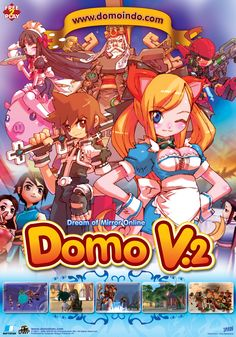 Toru was also responsible for DOMO character design. The maid's outfit is a bit forced tough, but it's a mmo...