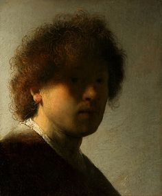 Rembrandt 'Self Portrait at an Early Age' 1628 Oil on panel by Plum leaves, via Flickr