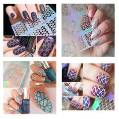 NICOLE DIARY 16Sheets Flower Print Nail Vinyls Nail Art Manicure Stencil Stickers JV * Details can be found by clicking on the image.