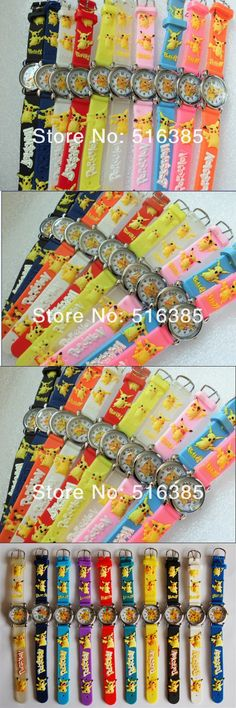 Shipping DHL 140pcs/lot Wholesale NEW Cartoon 3D Children Watch Good Gift kids watch Pikachu Pokemon wristwatch