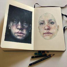 - A level art sketchbook - water - - Art Inspo, Kunst Inspo, A Level Art Sketchbook, Arte Sketchbook, Moleskine Sketchbook, Art And Illustration, Sketchbook Inspiration, Painting Inspiration, Style Inspiration