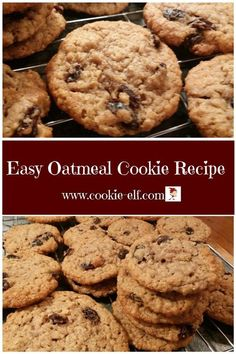 Easy Oatmeal Cookie Recipe: ingredients, directions, and special baking tips from The Elf to make this easy cookie recipe that's simpler than a mix. Easy Oatmeal Cookie Recipe: Simpler Than a Mix - Easy Oatmeal Raisin Cookies, Chewy Sugar Cookie Recipe, Oatmeal Chocolate Chip Cookies, Oatmeal Cake, Drop Cookie Recipes, Oatmeal Cookie Recipes, Quick Cookies, Drop Cookies, Yummy Cookies