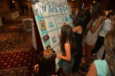 Tiffany & Co. Shopping Theme Bat Mitzvah Sign-in Board {Westminster Hotel, Brad Photographers} - mazelmoments.com