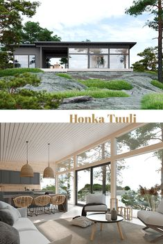 A modern, Scandinavian log cabin Honka Tuuli – Taller De Carpinteria Self Build House Kits, Self Build Houses, House Plans, Cabin Plans, Small House Design, Cottage Design, Log Cabins For Sale, Log Home Kits, Timber House
